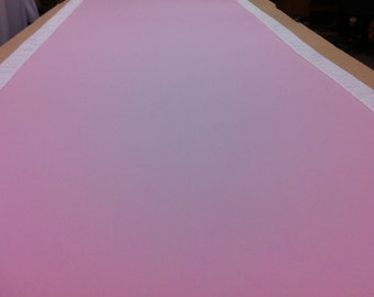 Custom Made Aisle Runner Two Colors Pink Gabardine and Ivory Satin Accents 50 feet Long