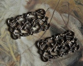 2 Vintage RARE Old Brass Filigree Gorgeous Pieces