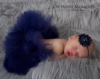 Simply Navy Tutu perfect for Newborn pictures, special occassions, birthdays and many more