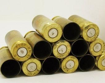LOT 14 10mm Caliber BRASS Gun Shells Casings Spent Empty Craft DIY