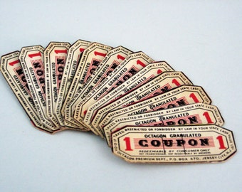 Soap Labels, Octagon Soap Coupons, Redeemable Coupons