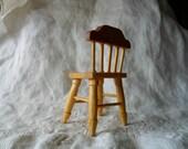 miniature chair . handmade wooden doll house chair . vintage miniatures . art box furniture . rustic miniatures . dollhouse chair