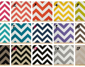 Pair of Designer Custom Curtain Panels 50 x 84 Zippy Large Zig Zag Chevron with Grommets