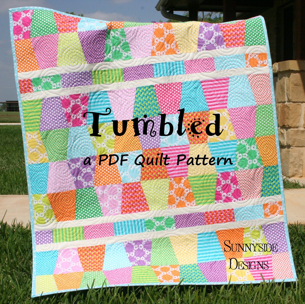 quilt pattern tumbled charm pack baby throw size tumbler