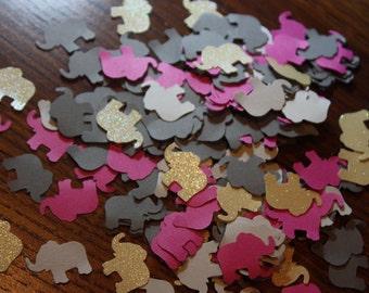 200 Elephant Confetti/Die Cut/Cutout/Scrapbooking/Birthday  CHOOSE COLORS