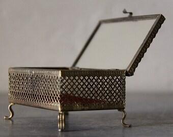 Boîte à bijoux Vintage Bronze ciselé