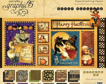 "RETIRED! Graphic 45 Happy Haunting 12"" x 12"" Paper Pad"