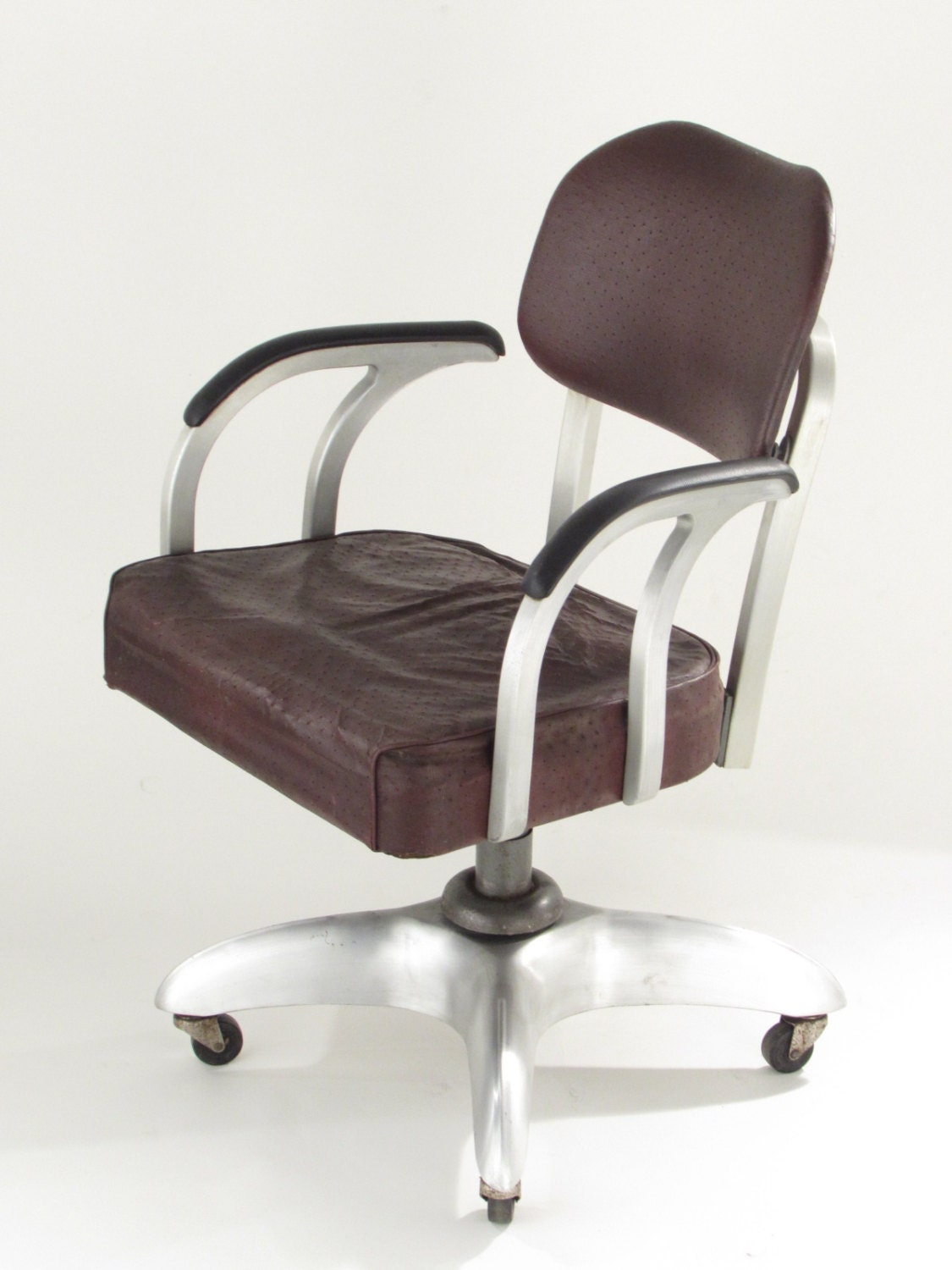 Goodform metal office chair vintage propeller base general for Antique office chair