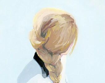 """hair art - 5x7"""" braid print - """"Braid 5"""""""