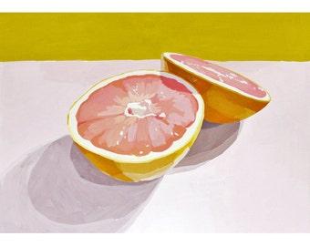 "5x7"" print - grapefruit still life - ""Grapefruit 12"""