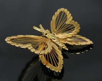 Vintage Monet Spinneret Style Wire Wrapped Butterfly Brooch Pin