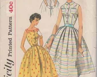 1950's Misses' Dress Simplicity 2548 Size 12 Bust 32