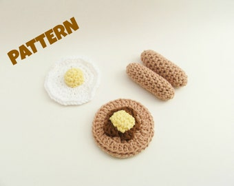 Crochet Play Food Pattern / Crochet Food Pattern / Play Food Pattern / Amigurumi Food Pattern / Kids Patterns / Crochet Christmas Pattern