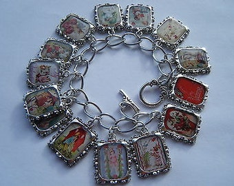 Valentines Altered Art Bracelet