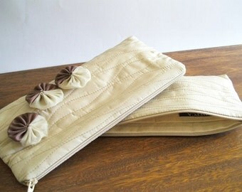 Wedding Clutches with Flowers, Set of 6, Bridesmaids Bags, Farmhouse Wedding Gifts, Rustic Handbags