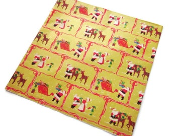 Vintage Wrapping Paper - Night Before Christmas - One full sheet Christmas Gift Wrap