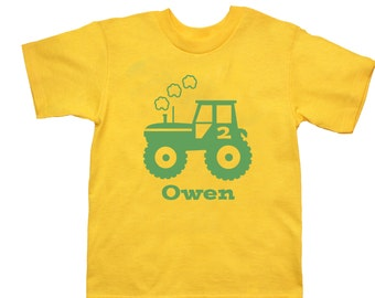 Tractor Birthday Shirt - any age and name - pick your colors!