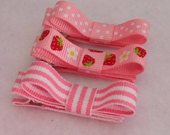 Clippie Hair Bows for Newborns, Set of 3 Clippies, Baby Clips for Summer, Newborn Hair Bow Clippies, Clippies, Itty Bitty Bows for Baby