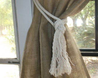 Natural Cotton Rope Tieback, by Jackie Dix