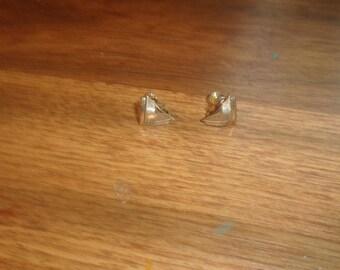vintage screw back earrings coro silvertone