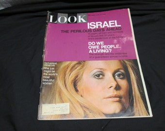 Look Magazine April 1968, Israel, Cold War, Chevy car ads, vintage advertising
