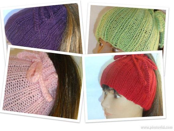 Ponytail Hat Cowl Convertible Hat Dreadlock Band Knitting Pattern