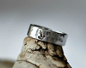 Mens Anchor Ring, Anchor Ring for Men, Mens Nautical Ring, Anchor Ring Mens, Mens Nautical Wedding Bands, Sterling Silver