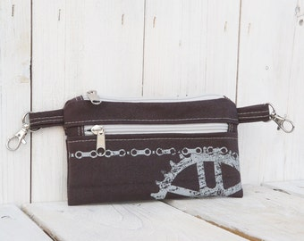 Festival cycling belt bag ~ Unisex Vegan printed waist pack ~ hipster comfortable belt cover, christmas gift for husband, dad, friends, mom