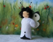 Made to order: cabbage white butterfly  / springtime / waldorf inspired / natural table