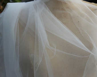 Diamond White Illusion Tulle  .. 3 Yards .. 72 Inches Wide..