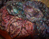 Camaj   - SHREDDED TULIPS - Pulled silk waste fiber made into a roving/top. Perfect for hand spinning yarn