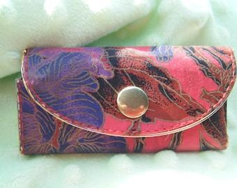 Hasi Hoto Fabric Key Fob// Floral Design  Keychain