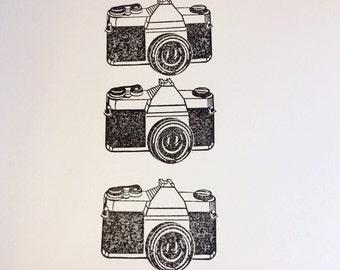 Camera Stationery Retro Vintage Style Handmade