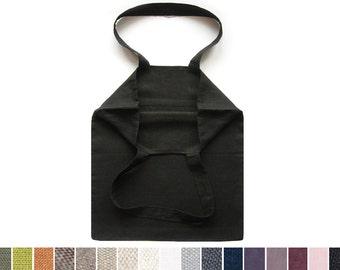 Black linen tote bag Custom color bags Lovely Home Idea