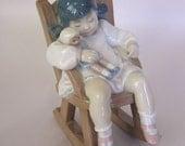 Lladro Porcelain Figurine, Nap Time #5448