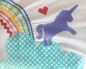 Unicorn Pillow Case rainbow pillow case
