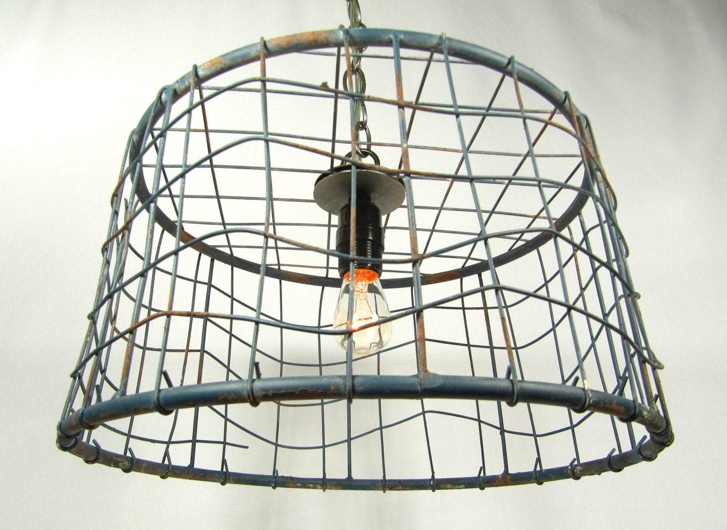 Basket Light Fixture The Salvage Hunt Egg Wire Basket