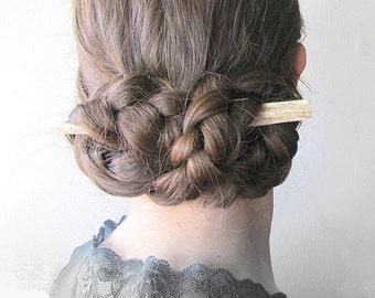 Elk Antler Hair Stick Carved Bone Horn Hair Jewelry