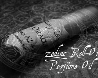 Zodiac Perfume Oil - Mini Roller Bottle - Choose Your Scent - Roll On Fragrance Oil - Roll On Cologne Oil