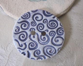 Large Purple Spiral Texture Button