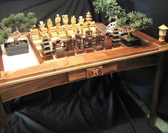Samurai Chess Table by Jim Arnold