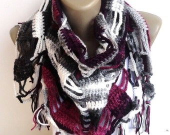 Crochet Scarf // Shawl Scarf // crocheted scarf // women scarves ,cowl ,neckwarmer ,winter accessories , gift ideas