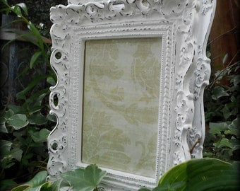 """Distressed Bright White """"Mix & Match"""" Frames-8x10, 5x7-Paris Home,French Chateau,Cottage Wedding,Country Decor,Shabby Chic,Nursery,tabletop"""