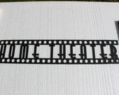 Home Theater Words Film Strip Font 2ft Metal Wall Art Home Theater Decor