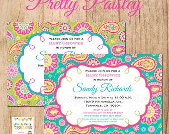PRETTY PAISLEY invitation - YOU Print