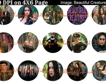 Buy ONE get FOUR FREE Beautiful Creatures 15 1 Inch Bottlecap Images 4x6 Sheet