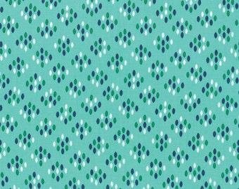 Half Yard Color Me Happy Cluster Drops in Teal, Vanessa Christenson, V and Co, Moda Fabrics, 100% Cotton Fabric, 10824 13