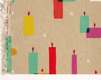 Moonlit CANVAS Light a Candle in Multi, Rashida Coleman Hale, Cotton+Steel, RJR Fabrics, Cotton and Linen Blend Canvas Fabric, 1909-012