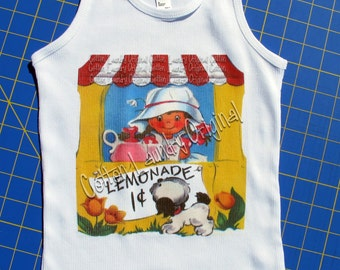 Lemonade Stand Tee shirt, tank or one piece [infant] graphic toddler tee Lemonade Stand with/out sign By Cotton Laundry