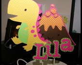 Dinosaur Personalized Cake Topper